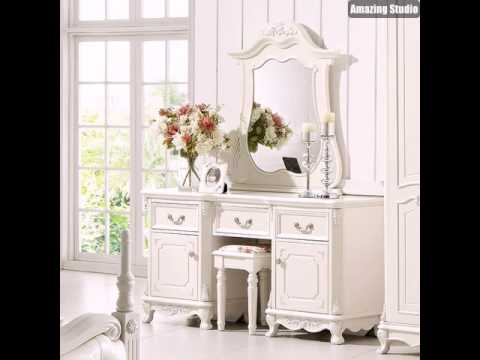 make up tisch wei e m bel luxus youtube. Black Bedroom Furniture Sets. Home Design Ideas