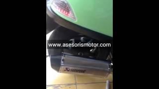 Knalpot Vespa Sprint Knalpot Akrapovic Oval Silver Racing Custom