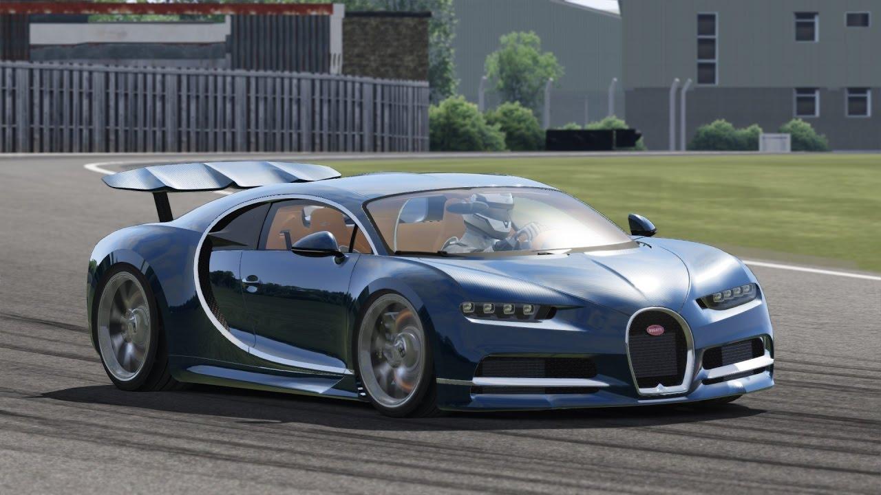 bugatti chiron / top gear test track / assetto corsa - youtube