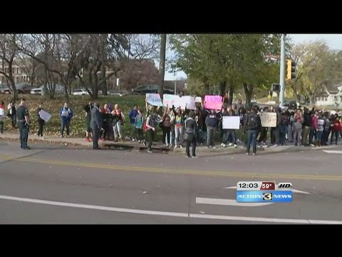 Omaha North students stage walkout