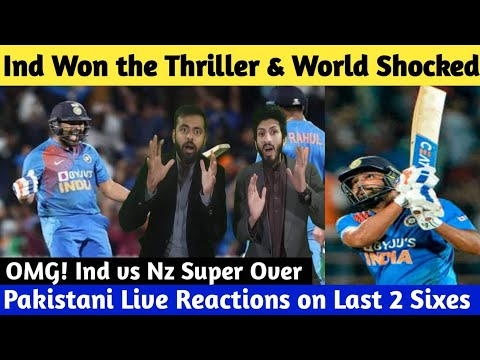 Live: OMG! Ind Vs NZ Super Over | India Won The Thriller & Fans Out Of Control | Rohit 2 Sixes