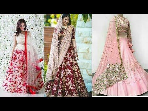 Latest Floral Lehenga Choli Designs New Printed Lehenga Choli Designs Lehenga Choli For Weddings Youtube