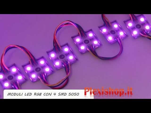 Moduli Led RGB da 4 SMD 5050