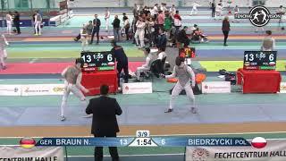 2018 P1 01 M F Team Halle GER European Cadet Circuit podium POLAND POL vs GERMANY GER
