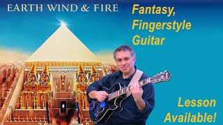 Fantasy, Earth Wind & Fire, fingerstyle guitar cover, lesson available