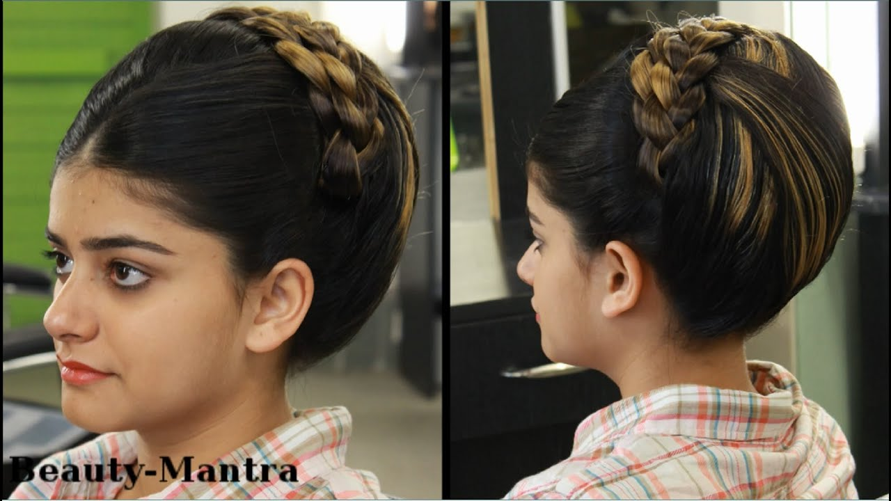 indian bridal hairstyle (jura) for medium to long hair - youtube