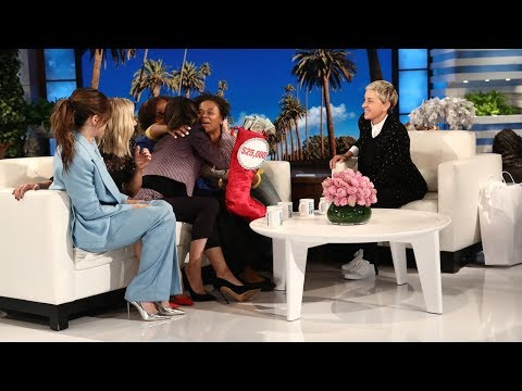Ellen and 'A Bad Moms Christmas' Stars Give Single Mom Surprise of a Lifetime