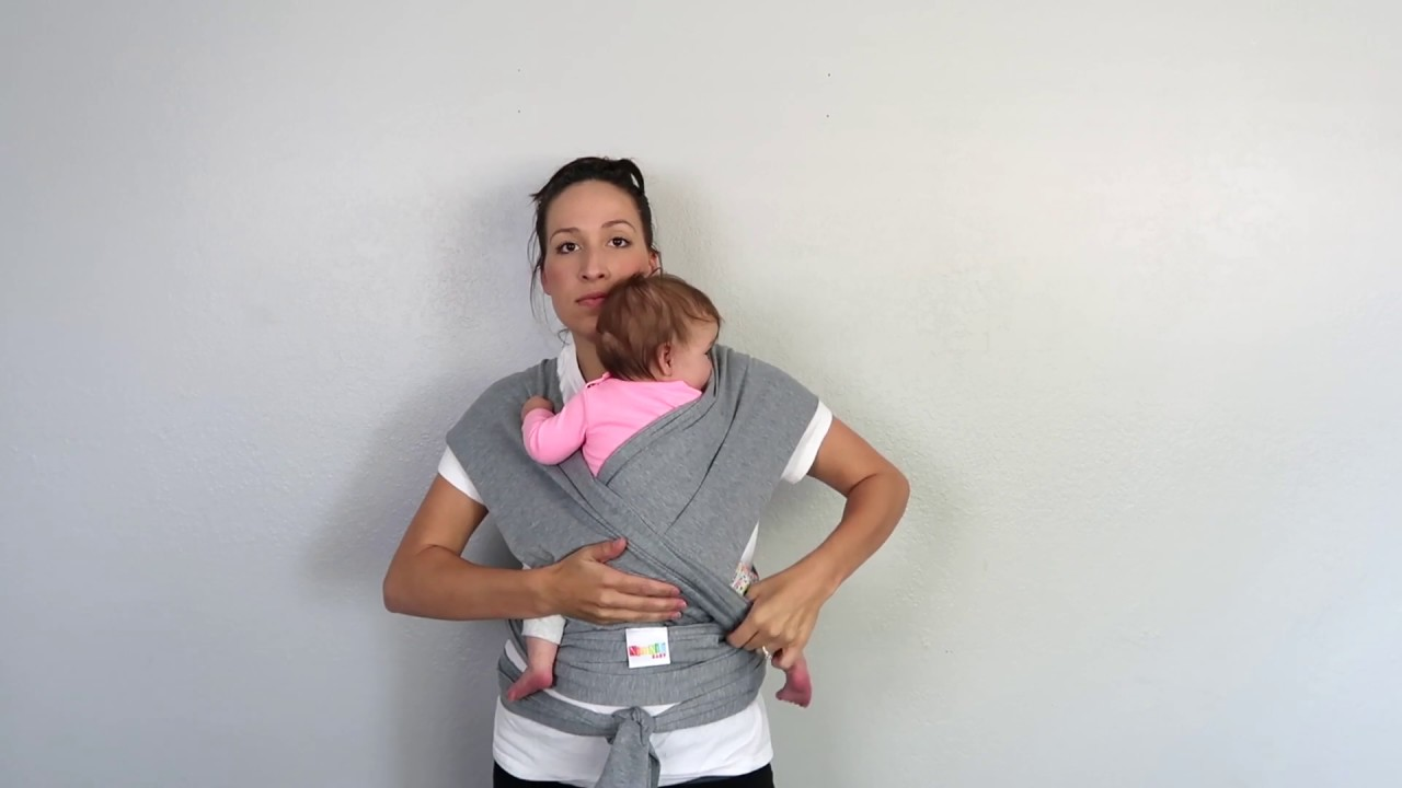 How To Use Nimnik Baby Wrap Carrier Sling Youtube