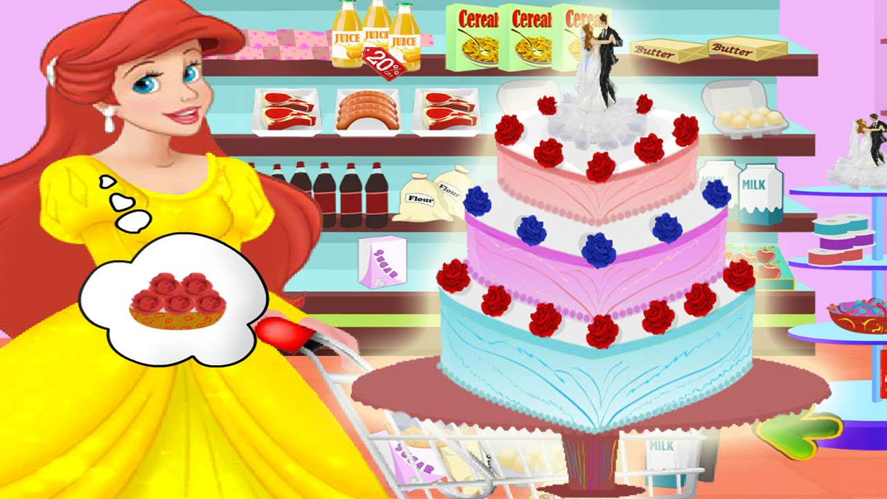 Ariel Wedding Cake Cooking Princess Full Kids Game Episode