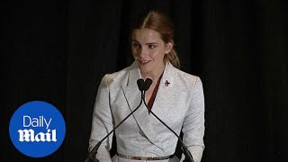 Emma Watson: Feminism is about equality not 'man hating' - Daily Mail