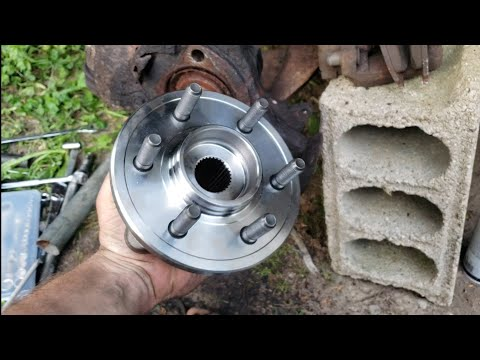 98-03 Dodge Durango Front Wheel Bearing Hub How to Replace Removal and Install