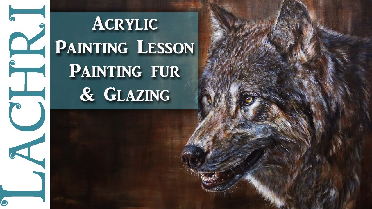 How to paint fur  Acrylic Wolf Painting Tutorial  Time
