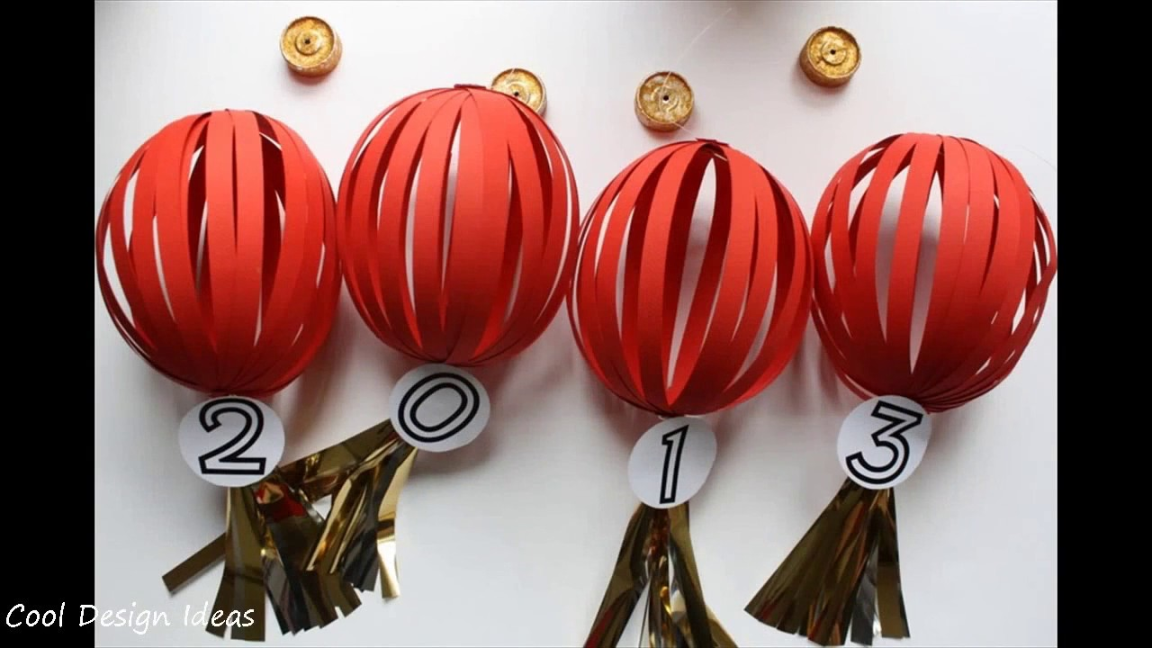 DIY Simple Chinese New Year Decoration - YouTube