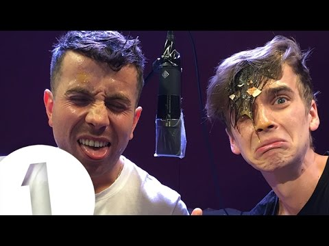 Nick Grimshaw and Joe Sugg play Egg on Your Face!
