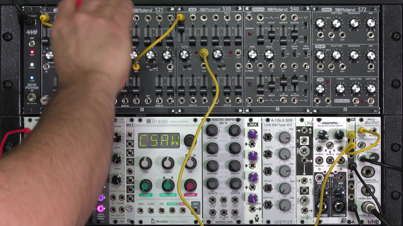 Patching A Typical East Coast Modular Synth Voice Youtube