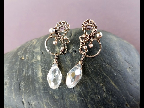Wire Wrapping Tutorial - Allora Post Earrings