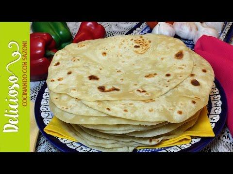 Tortillas de Harina Perfectas! Medidas en Kilos y en Tazas! Perfect  Homemade Flour Tortillas