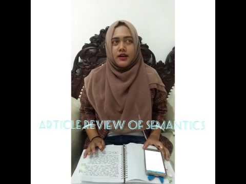 Article Review of Semantics