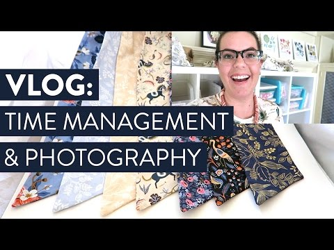 VLOG: Time Management & Product Photos | Day in the Life of an Etsy Shop