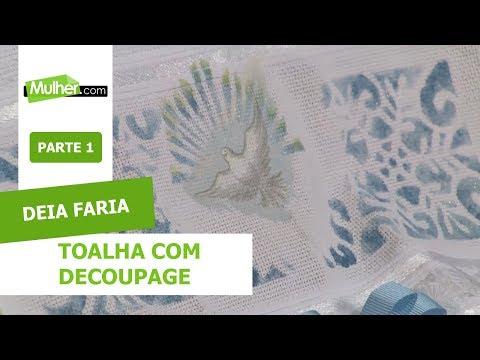Toalha com Decoupage - Deia Faria - 12/08/2019 P1