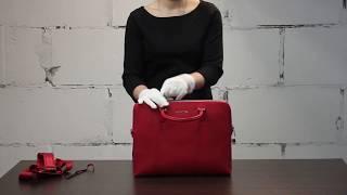 Обзор женской сумки из натуральной кожи. Производитель Италия, Cromia