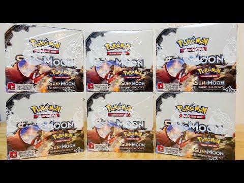 Opening 6x Pokemon Burning Shadows Booster Boxes