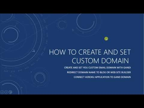 Introduction to Create and Set your Gandi.net Custom Domain for dummies - part 1