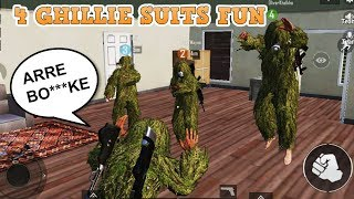 PUBG Mobile | 4 Ghillie Suits In Squad | Fun 20+ Kills Gameplay