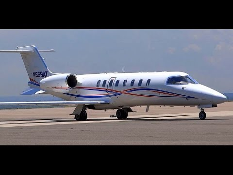 Learjet 45 - Taxi and Takeoff - Rocky Mountain Metro Airport