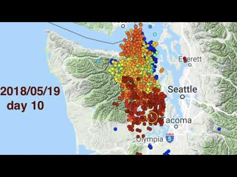 100s of DEEP tremors being monitored not far from Cascadia Subduction Zone