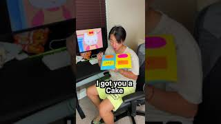 My Girlfriend Gave ME A CAKE? And i did this... #Shorts