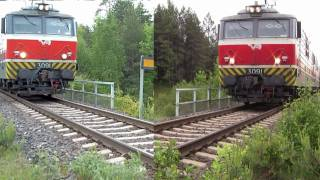 FIN freight train 5012 with different camera angles