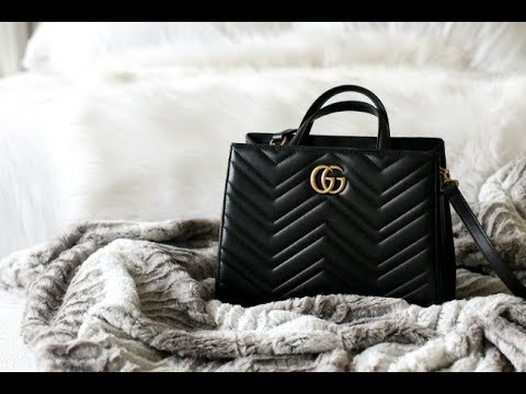 3b9096f6f8a NEW BAG REVIEW! GUCCI SMALL MARMONT TOP HANDLE SATCHEL - YouTube