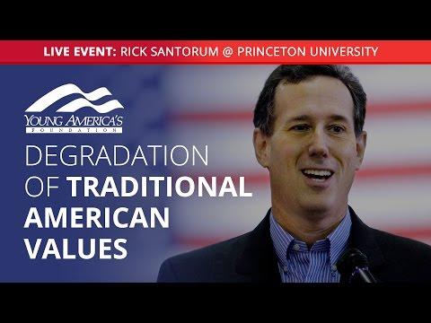 Rick Santorum LIVE at Princeton University