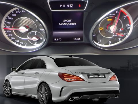 cla 45 amg 360 ps 0-100 km/h launch control / sound check - youtube