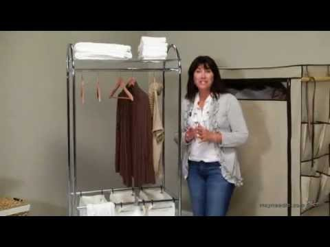 Organize It All Chrome Laundry Center with Clothes Rack - Product Review Video