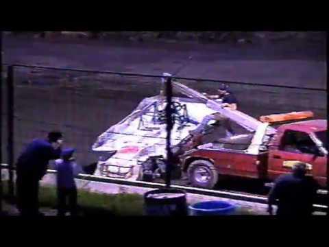 Utica Rome Speedway 8-24-03 / Mitch Gibbs Flip