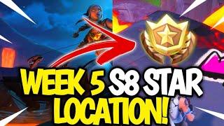 Fortnite WEEK 5 Secret Star Location! Fortnite SEASON 8 Week 5 Star LOCATION!