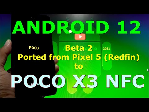 Pixel Factory Image Android 12 Beta 2 for Poco X3 NFC (Surya)