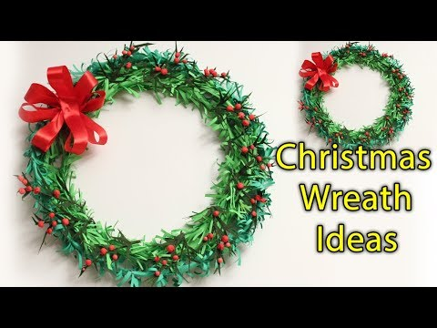 How To Make Paper Christmas Wreath Ideas - Cute Christmas Decorating