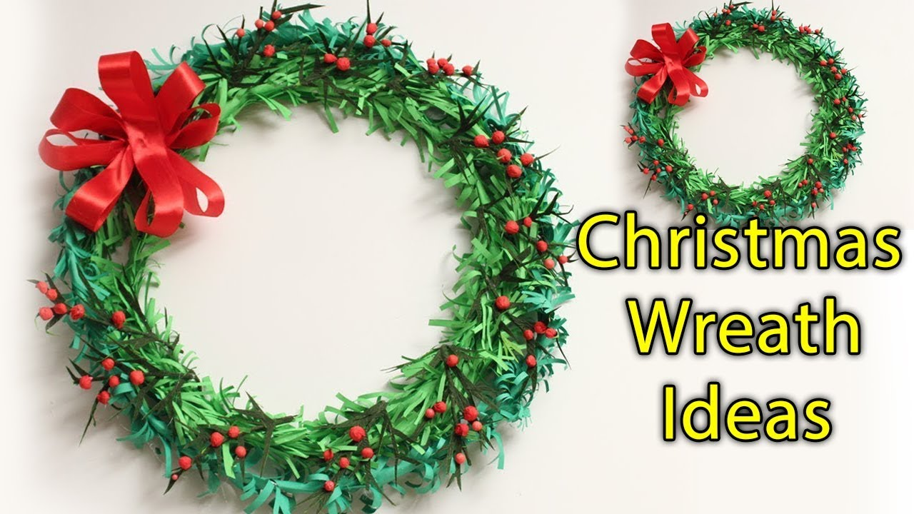 Paper Christmas Wreath Designs.How To Make Paper Christmas Wreath Ideas Cute Christmas Decorating