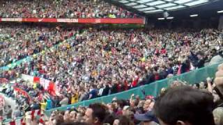 Gooners at Old trafford out singing 70,000 muppets