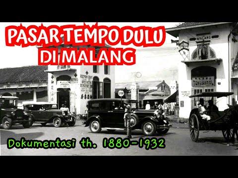 Pasar Tempo Dulu Di Malang, Jawa Timur (sebelum Indonesia Merdeka)