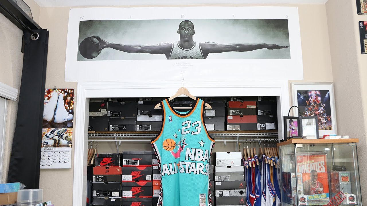more photos 4b128 eec73 Comparison - The 1996 Michael Jordan NBA All-Star Game Jersey by Mitchell    Ness