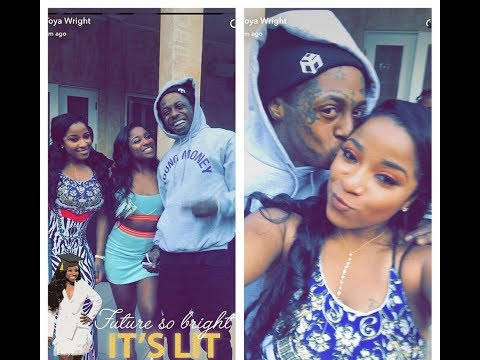 lil wayne parties with his exwife toya wright amp daughter