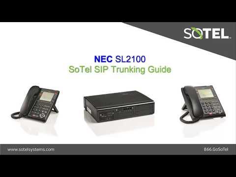 NEC SL2100 SoTel SIP Trunking Guide