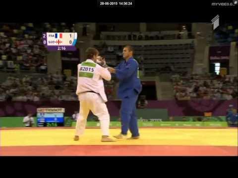 Loic Pietri vs Avtandil Tchrikishvili judo European teams championships final - Baku 2015