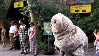 Uncle Teddy puppet attends Walt Disney World Animal Kingdom Mickey
