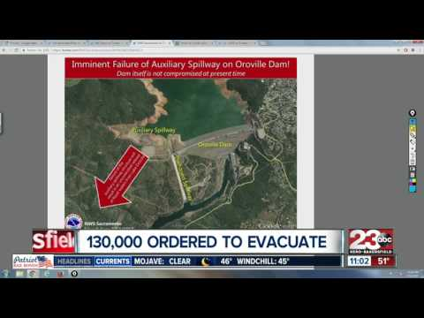 Oroville Dam Forces Thousands To Evacuate