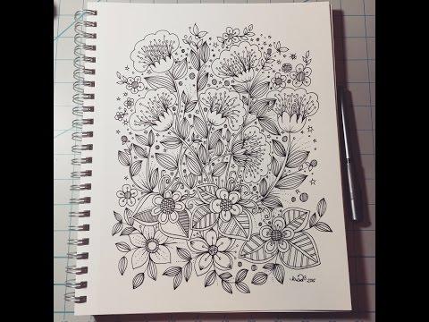 Flower Designs - doodle art journal entry
